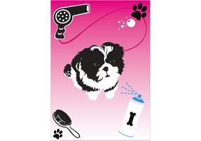 Shih Tzu Puppy Vector