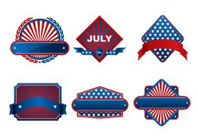 Fourth of July Banner Vector Pack