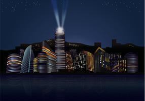 City nights Skyline