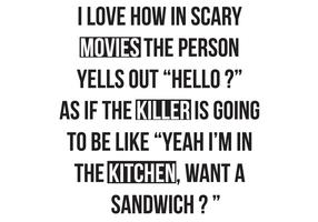 Funny T-Shirt: Movies, Killer, Kitchen