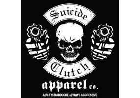 Skull with Gun Vector Tshirt Design