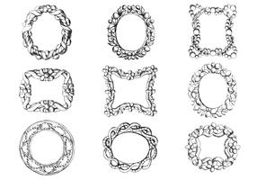 Antique Engraved Frame Vector Pack