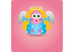 Cute Little Angel Vector