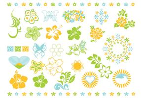 Summer Flower Vector Pack