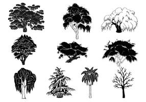 Tree Silhouette Vector Pack