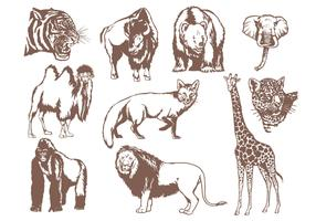 Wild Animals Vector Pack