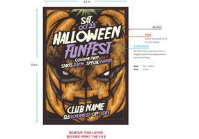 Pumpkin Halloween Flyer Template