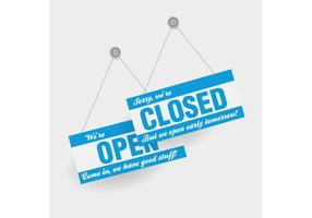 Free Vector of the Day #170: Open and Closed Signs