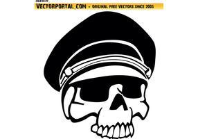 Military Skull Vector Art