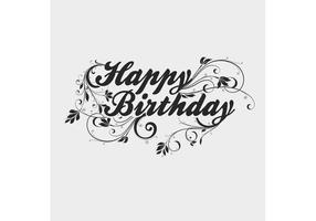 Free Vector of the Day #196: Happy Birthday Type