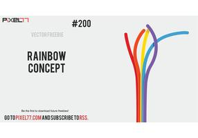Free Vector of the Day #200: Rainbow Concept