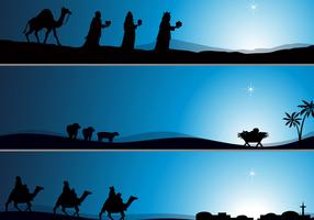 Nativity Wallpaper Vector Pack