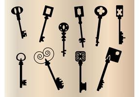 Old keys silhouette