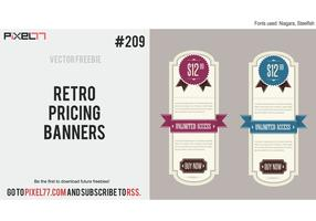 Retro Banner Vector - Free Vector of the Day #209: Retro Pricing Banners