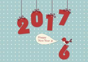 2017 New Year Bird Vector Wallpaper