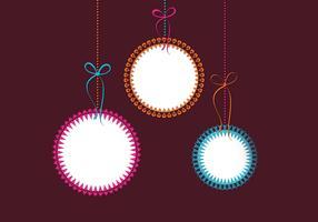 Funky Christmas Ornament Wallpaper Vector