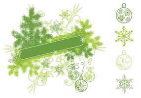 Christmas Snowflake Banner Vector Pack