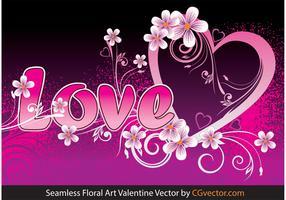 Seamless Floral Art Valentine Vector