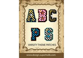 Varsity Letter Vector Patches