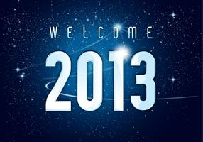 Welcome 2013 New Year Vector