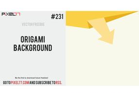 Origami Background Vector - Free Vector of the Day #231