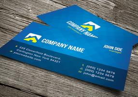 Cool Blue Business Card Template Vector