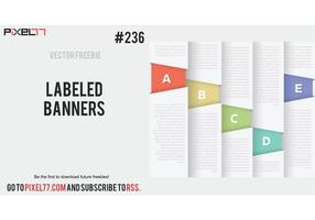 Labeled Banner Vectors - Free Vector of the Day #236