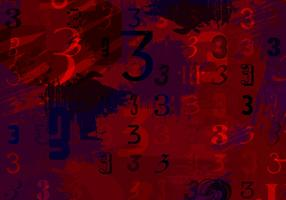 Three Fuchsia Background Vector