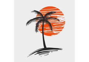 Palm Tree Vector - Free Vector of the Day #252