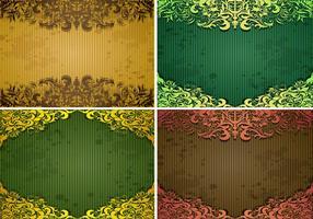 Emerald Vintage Background Vector Pack