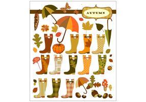 Fancy Autumn Vector Elements
