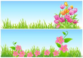Tulip and Floral Vector Wallpaper Pack