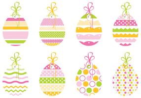 Decorative Easter Egg Tag Vector Pack