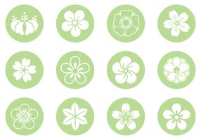 Floral Circle Vector Pack