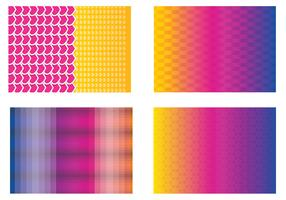 Colorful Funky Vector Backgrounds