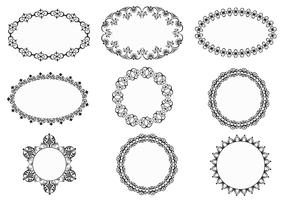 Vintage Ornate Frames Vector Pack