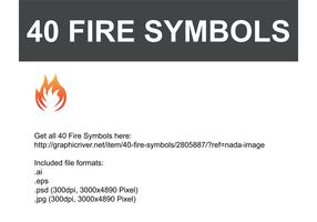 Fire Vector Symbols