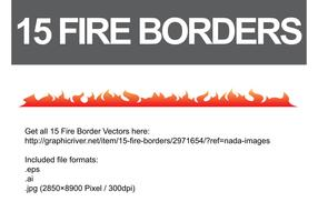 Fire Border Vectors