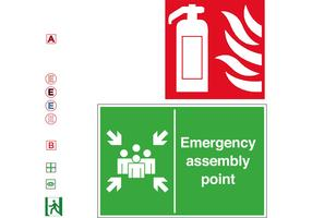 Emergency Fire Escape Symbol Vectors
