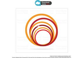 Orange Creative Symbol Circle Vector
