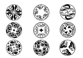 Circular Flourish Ornament Vectors