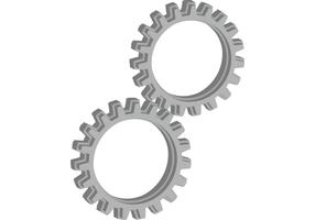 3D Extruded and Beveled Gear Vectors