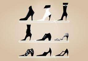 High Heel Shoes Vector Pack