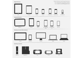 Technology Vector Icons - devices and consoles