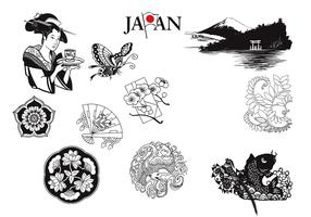 Japanese Vectors and Nature Elements