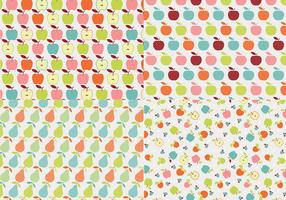 Retro Apple Vector Pattern Pack
