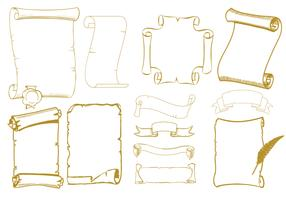 Old Scrolls Vector Pack