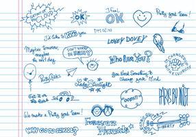 Handwritten Doodle Vector Pack