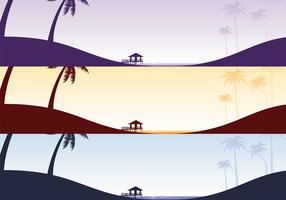 Tropical Beach Vector Wallpaper Pack