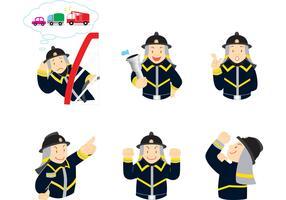 Expressive Fireman Vector Pack